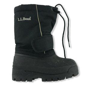 LL Bean Black Insulated Removable Liner Warm